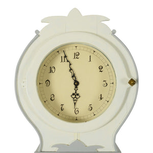 White Swedish Mora Clock - face