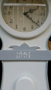 White Swedish Mora Clock - additional detail