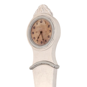 Mora Wall Clock Antique White with grey - detail