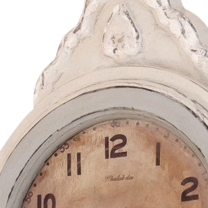 Mora Wall Clock Antique White with grey - face detail