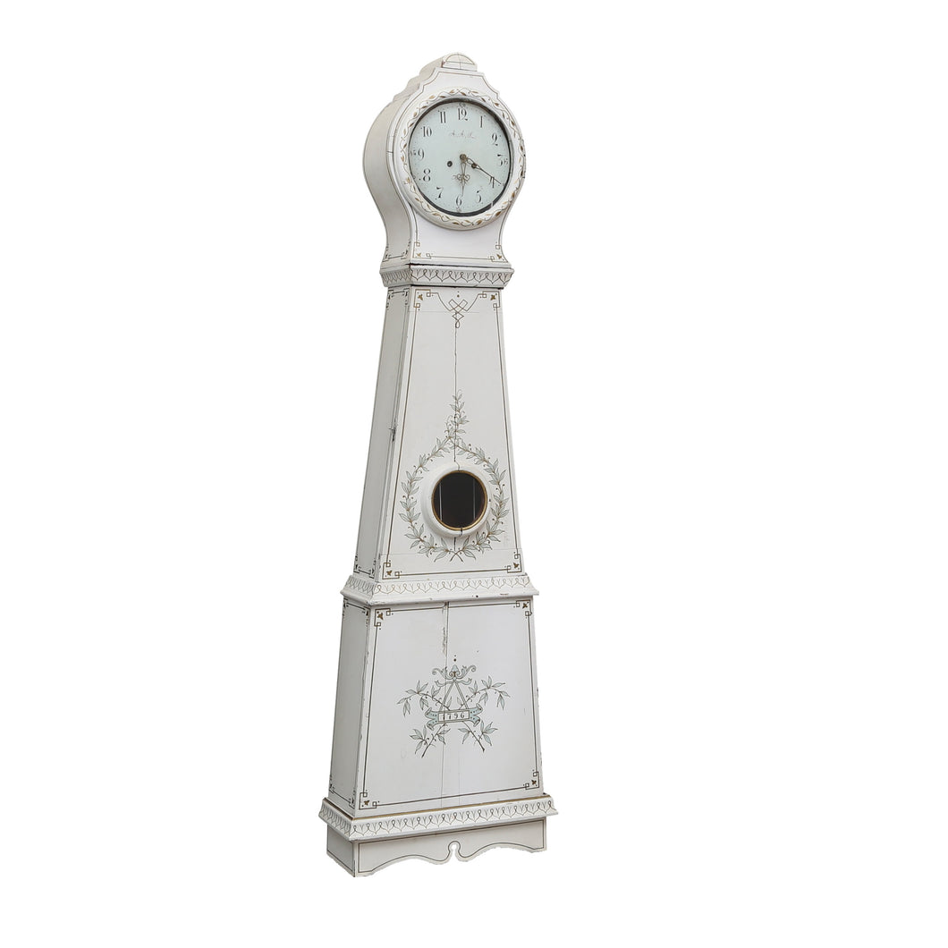 swedish mora clock white and gold