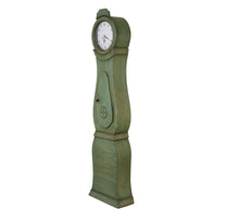 mora clock side view painted green
