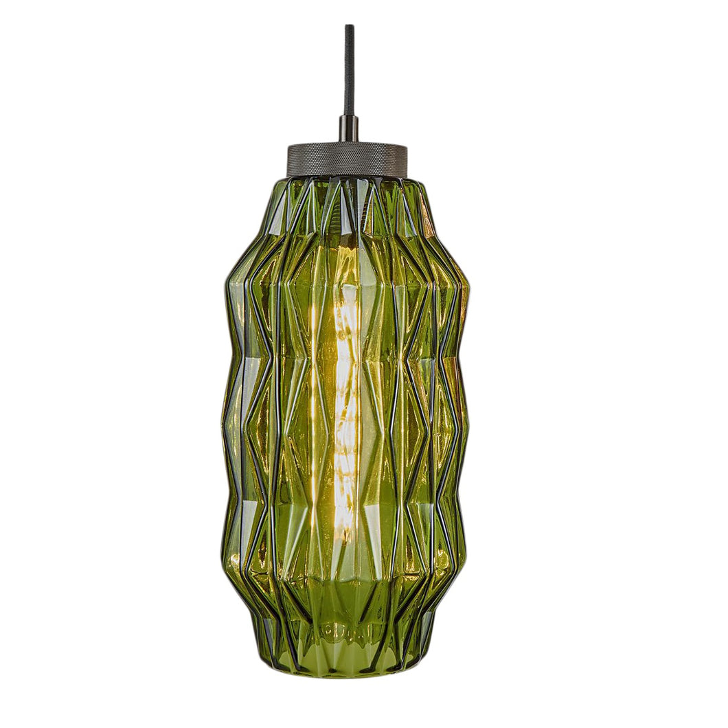 Geometric shaped glass pendant light