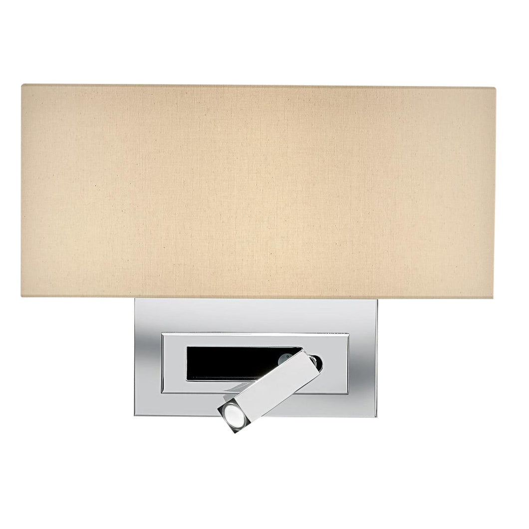 Polished chrome wall light with LED docking