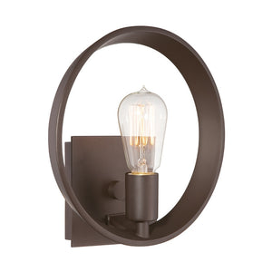 Bronze Circle Wall Light