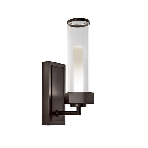 Regent black bronze bathroom wall light