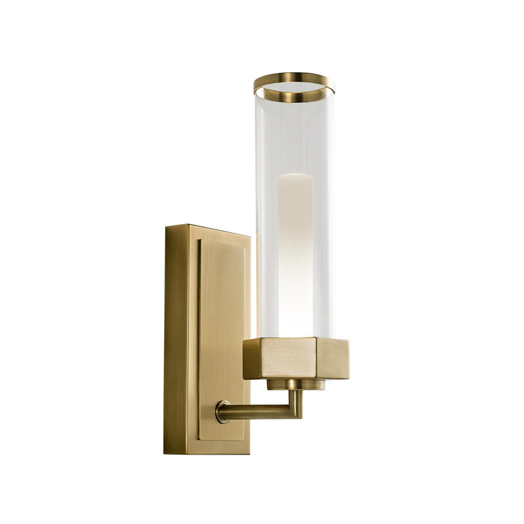 Regent English brass bathroom wall light