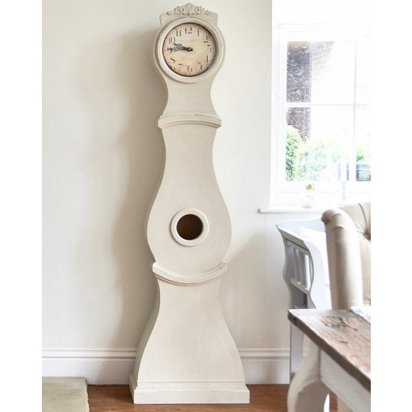 Mora Clock - Antique White - in situ