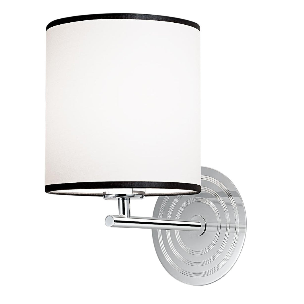 Retro polished chrome wall light