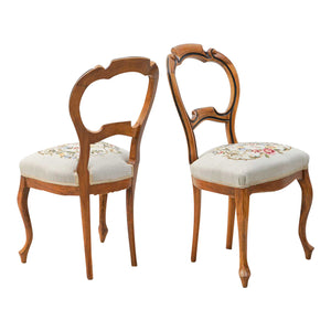 1900s Vintage Rococo Chairs- x 4 chairs