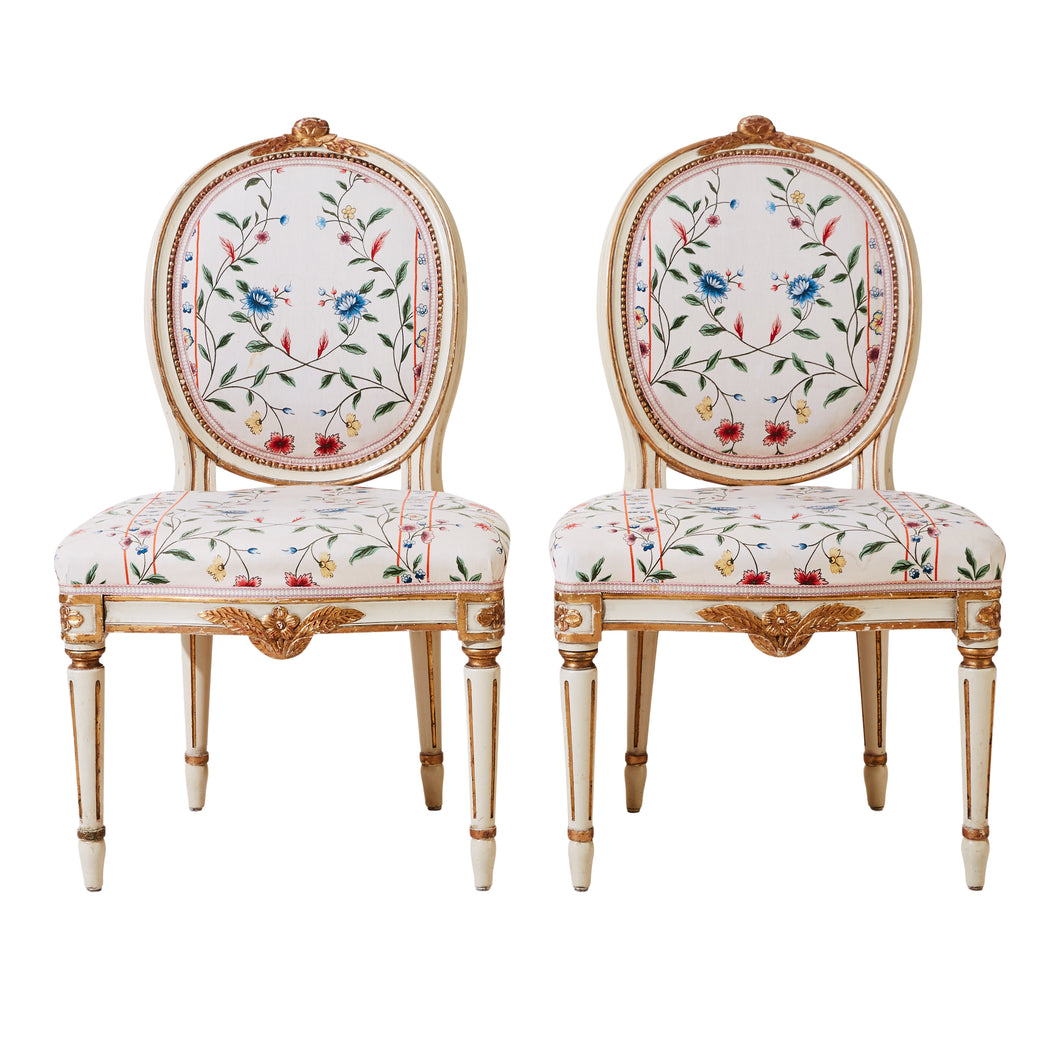 Classic Gustavian 1900's Chairs (Pair)