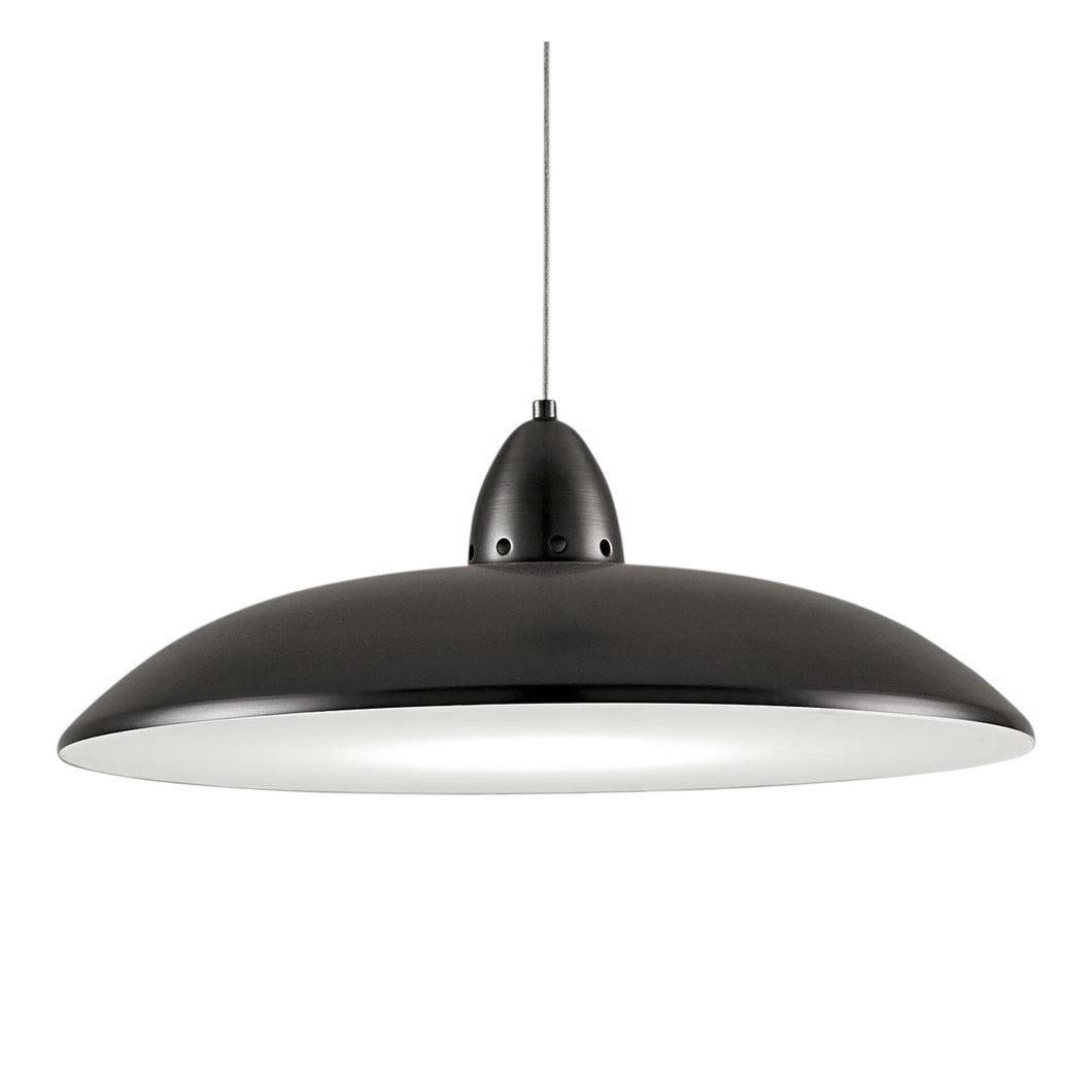 Black bronze saucer light