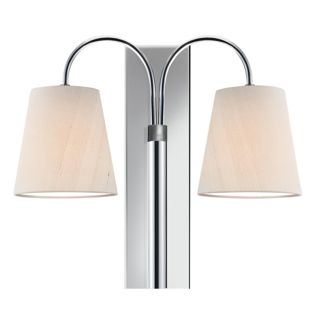 Shatersbury double wall light in polished chrome