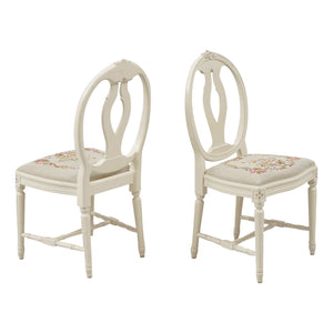 Set of 6 single bud Rose chairs
