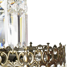 Swedish Chandelier - Light Brass Chandelier With Almond Crystals