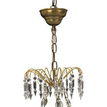 antique swedish chandelier - brass detail and crystal