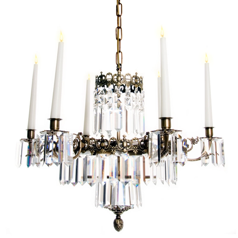 Classic Crystal chandelier with 6 arms
