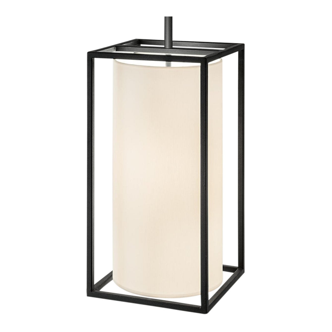 Classic black frame light with shade