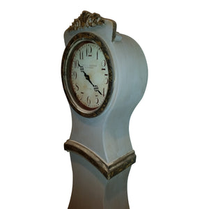 Umber painted replica Mora Clock - side