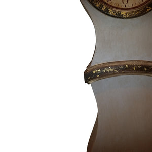 Umber painted replica Mora Clock - paint detail