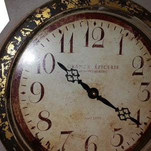 Umber painted replica Mora Clock - gold face detail