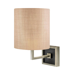Wall lamp in antique Brass and Satin Black
