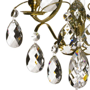 Wall Lights - Crystal Wall Light In Brass, Baroque Style
