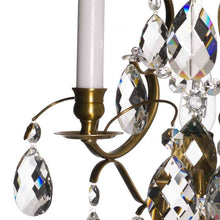 Wall Lights - Crystal Wall Light In Light Brass, Baroque Style