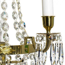Wall Lights - Crystal Wall Light Polished Brass