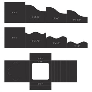"6"" x 6"" Foldout Cards-Black (Limited Edition)"