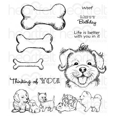 Paw-fect Pooches Cling Stamp Set (Limited Edition)