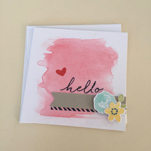 Hello (floral pop up)