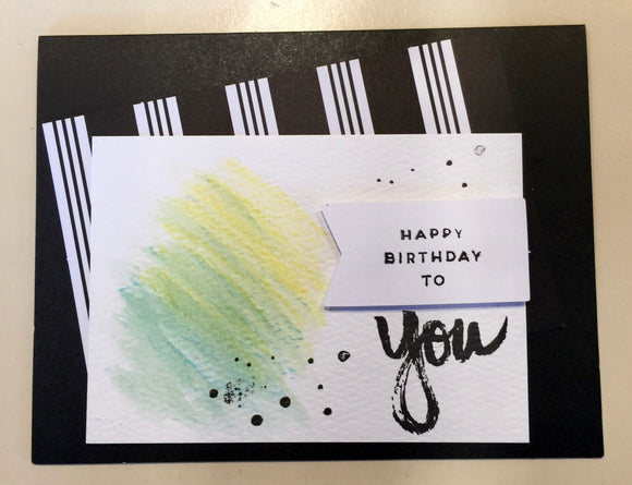 Happy Birthday to you (horizontal card)