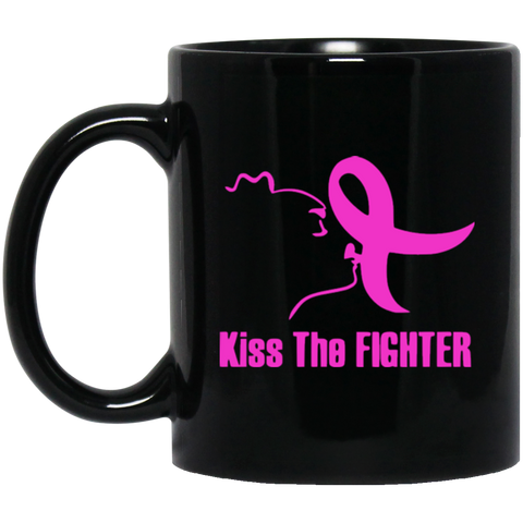 Kiss The Fighter11 oz. Black Mug