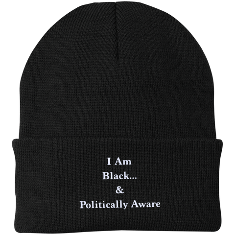 I Am Black...& Politically Aware Knit Cap