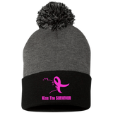Kiss The Survivor Sportsman Pom Pom Knit Cap