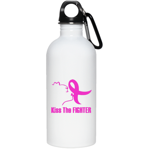 Kiss The Fighter 20 oz. Stainless Steel Water Bottle