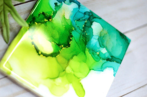 Lime Green & Teal Coasters