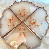 White & Copper Coasters