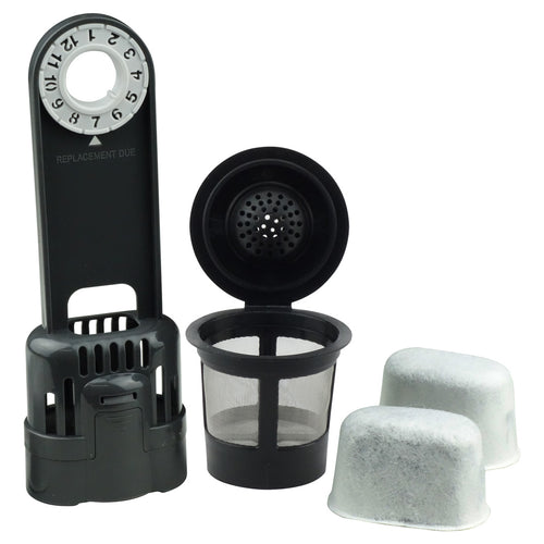1 Keurig Single K-Cup Solo Reusable Coffee Filter Pod + 1 Water Filter Holder and 2 Charcoal Water Filters