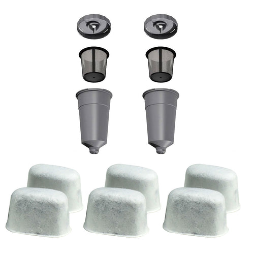2 K-Cup Coffee Filter Set - 6 Water Filter Cartridges for Keurig