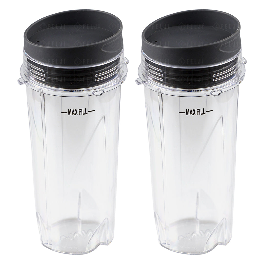 2 Nutri Ninja 16 Oz Cups With To Go Lids Replacement Model