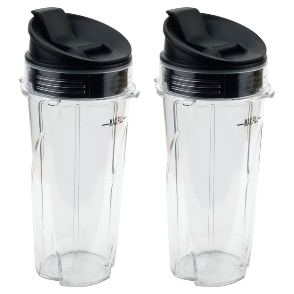 2 Pack Nutri Ninja 16 Oz Cups With Sip Amp Seal Lids For