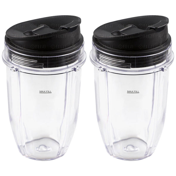 2 Pack Nutri Ninja 18 Oz Cups With Sip Amp Seal Lids