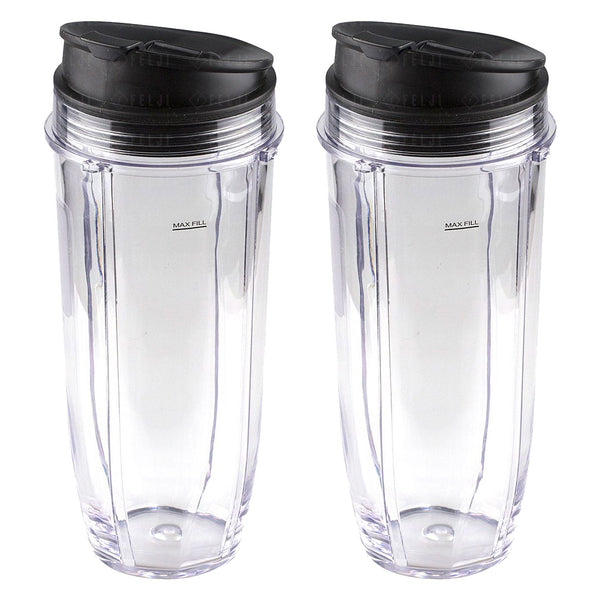 2 Pack Nutri Ninja Jumbo Multi Serve 32 Oz Cups With Sip