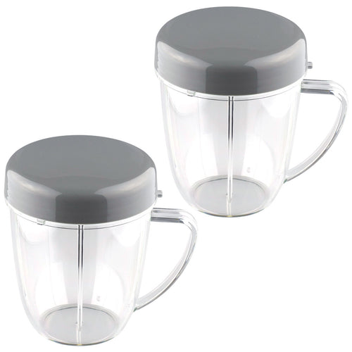 2 Pack NutriBullet 18 oz Handled Short Cup with Re-Sealable Lid