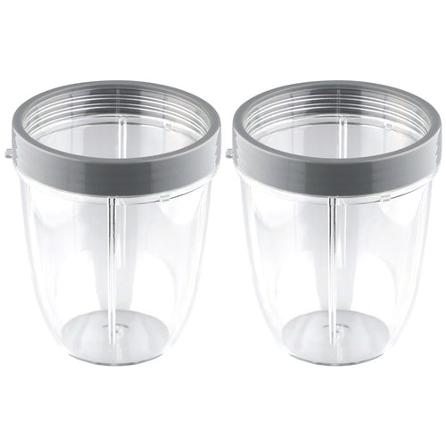 2 Pack NutriBullet 18 oz Short Cup with Lip Ring