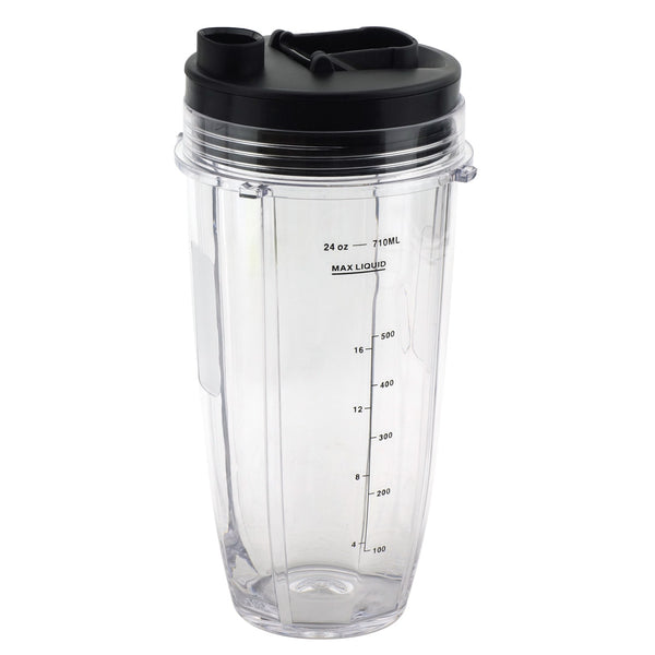 24 Oz Cup With Spout Lid Replacement For Nutri Ninja