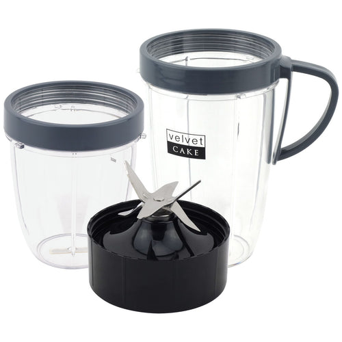 18 oz 24 oz Cups & Extractor Blade Upgrade Kit for NutriBullet Lean NB-203 1200W Blender