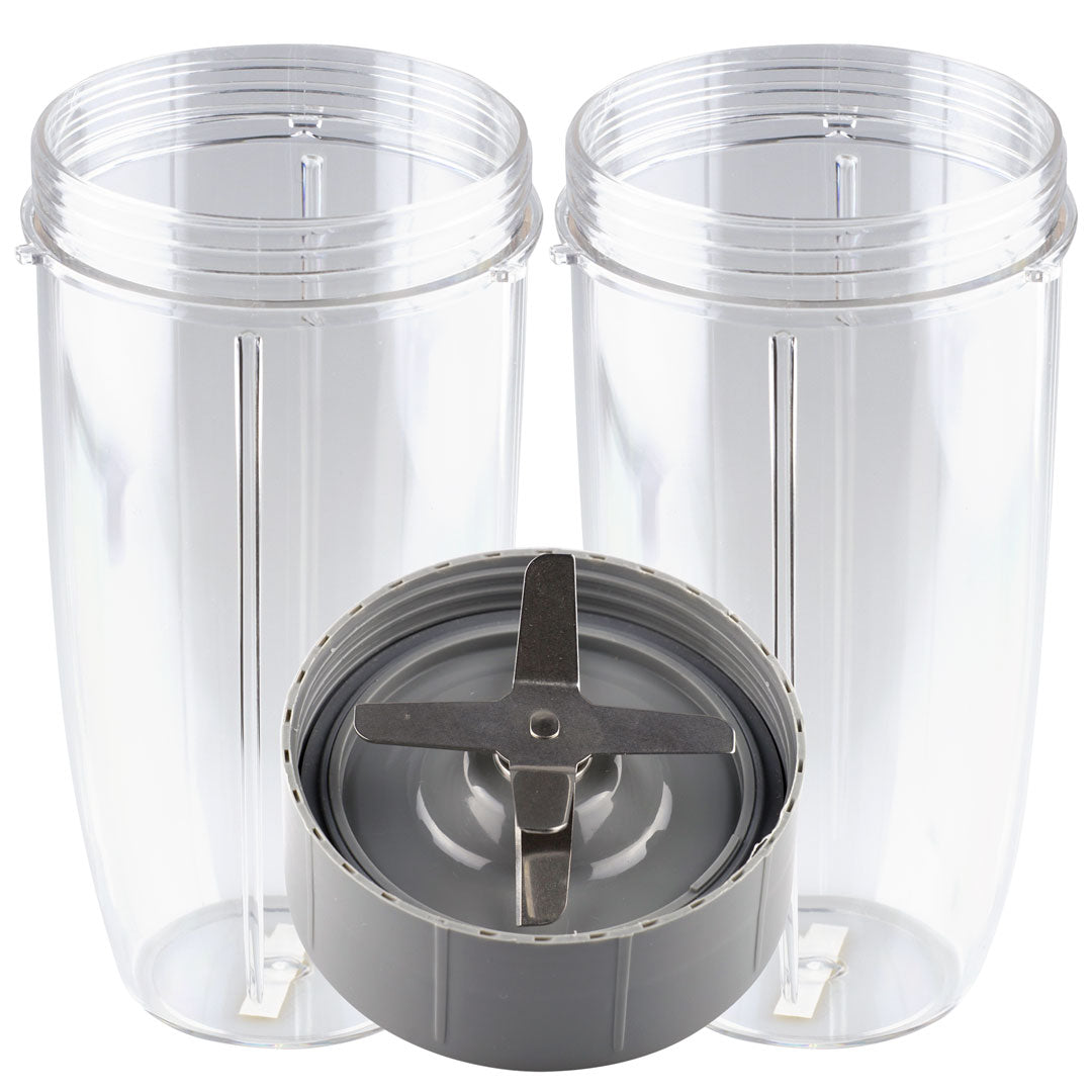 NutriBullet Extractor Blade + 2 32 oz Colossal Cups NB-101s